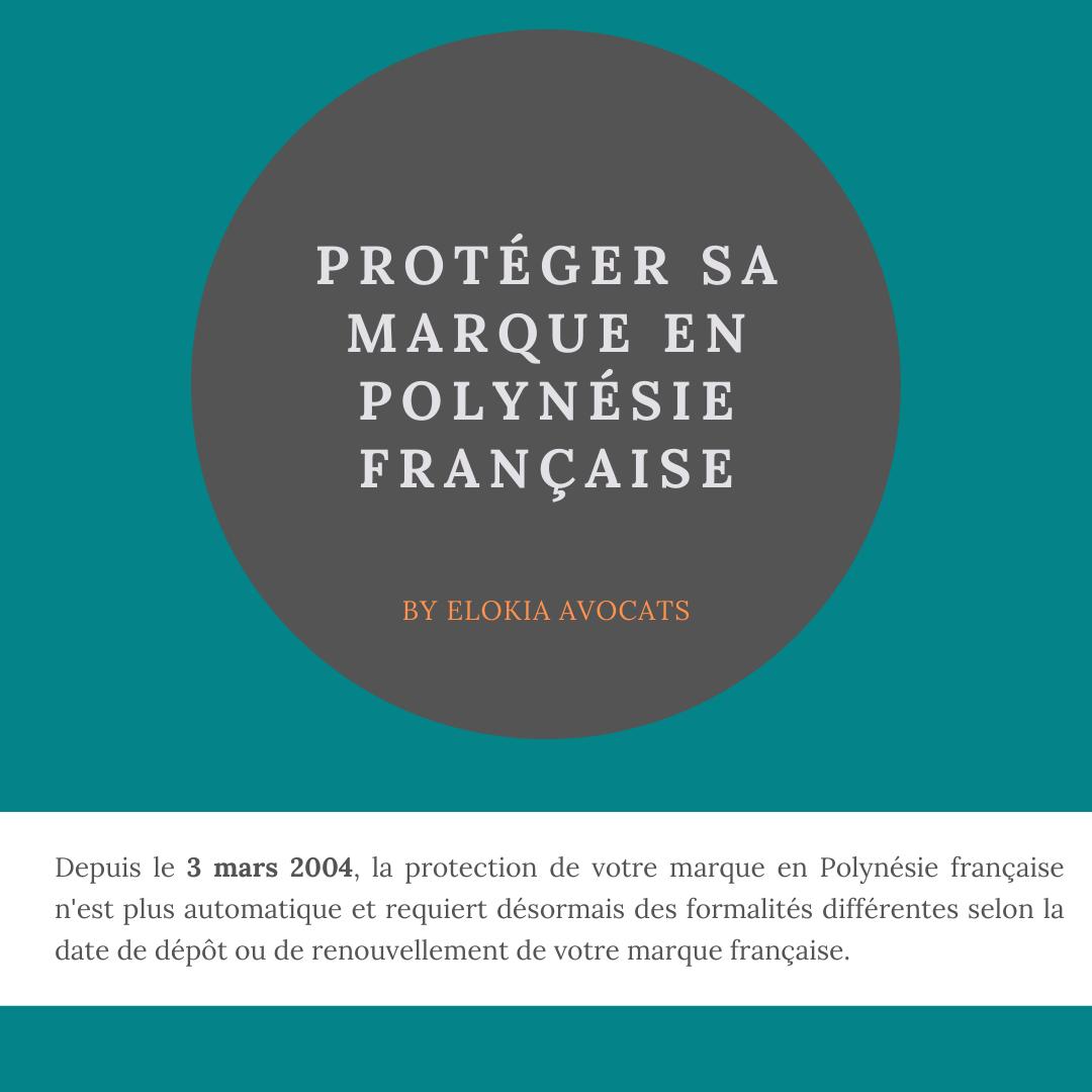 dépôt de marque Polynésie française