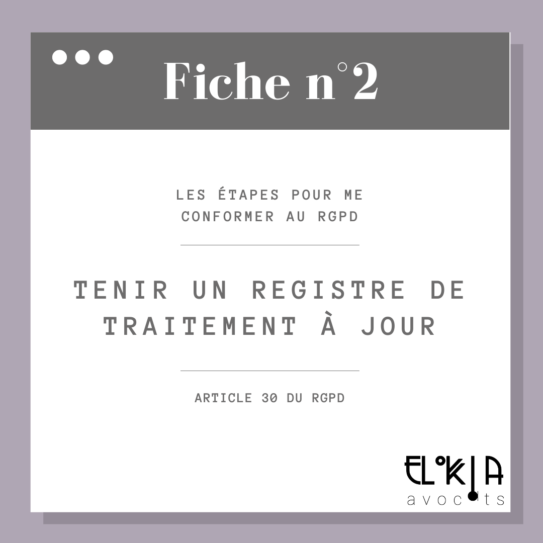 registre de traitement